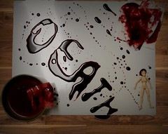 written in blood (alex_murri) Tags: blood artproject fakeblood red brwon white sheridan