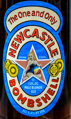 Newcastle Bombshell Pale Blonde Ale - Edinburgh Scotland (mbell1975) Tags: uk beer newcastle heineken virginia scotland edinburgh unitedstates ale scottish pale blonde bier fairfax bombshell