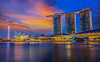 Marina Bay (anekphoto) Tags: city light sea sky urban reflection building tower tourism water skyline architecture modern night skyscraper marina river outdoors evening bay town singapore asia downtown cityscape exterior waterfront riverside dusk district famous central landmark center scene structure illuminated business commercial metropolis southeast financial finance