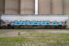 STATIC (TheLost&Found) Tags: urban art minnesota graffiti paint painted united cities minneapolis twin trains explore static stc celebs graff uc burner hopper freight crushers endtoend e2e benching tilx d2f