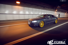 f420-gold-bullion-audi-s5-rolling (AvantGardeWheels) Tags: japan gold flat wheels ag lip form reverse audi avant garde concave s5 ignition bullion 24k f420 motorgroup spec2 soundwit