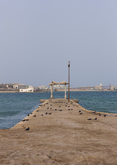 Jetty At The Old Palace Of Haile Selassie, Massawa, Eritrea (Eric Lafforgue) Tags: africa sea color colour abandoned vertical outdoors photography gate day redsea entrance nobody nopeople copyspace bombed massawa eritrea hornofafrica coastaltown eastafrica haileselassie batsi eritreo ottomanempire erytrea eritreia colourimage italiancolony  massaoua ertra    eritre eritreja eritria  rythre africaorientaleitaliana     eritre eritrja  eritreya  erythraa erytreja     colonialitalianarchitecture italiancolonialempire ert6799