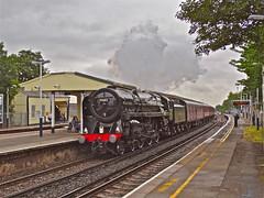 70013 At Wandsworth Town (Deepgreen2009) Tags: london station train tour railway steam dorset britannia wandsworthtown uksteam