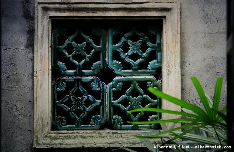 【古宅園林】廣東東莞_美麗的綠花磚