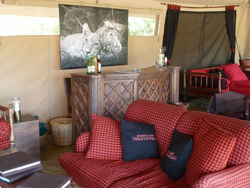 Nyumba lounge in the East Serengeti