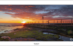 Sunrays (John_Armytage) Tags: beach pool clouds sunrise dawn australia newportbeach newport nsw tidalpool northernbeaches johnarmytage canon5dmark3 sigma35mmf14dg