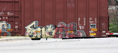 Snafu (No Real Name Given.) Tags: railroad art train graffiti paint tag rails boxcar freight rolling snafu benching
