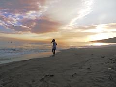 alex vs the celestial dome (Laura) Tags: california santa sunset sky beach santamonica monica santamonicabeach willrogers