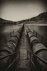 The Walkway. (Th3 Highlander) Tags: old water weather architecture landscape landscapes nikon dam derwent derbyshire sheffield pipes sigma sunny southyorkshire ladybower 1020mmf456exdc d5100 nikond5100