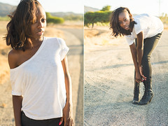 Ashlynn (Road) ([ Ryan W. ]) Tags: california ladies girls summer portrait sun sunlight black cute sexy girl beautiful beauty field fashion lady portraits outside outdoors 50mm daylight cool diptych glow desert natural outdoor availablelight ambientlight gorgeous lifestyle style naturallight sunny commercial editorial daytime southerncalifornia temecula ebony alternative apparel sunnyday 50mm18 nattylight nikkor50mm18 nikon50mm18 niftyfifty d7100
