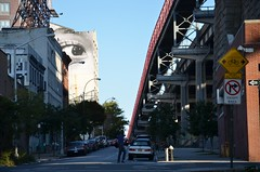 Watching The Williamsburg Bridge (Joe Shlabotnik) Tags: bridge eye brooklyn mural williamsburg 2013 september2013