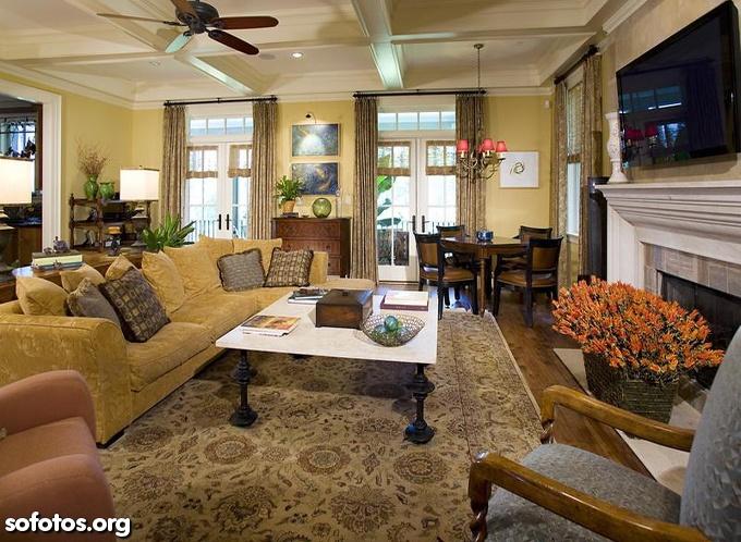 sala de estar decorada completa