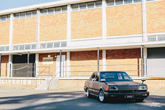Russel's Nissan 300C (OFIMBlog) Tags: boss red sun black car leather japan club sedan out stars photography japanese rising blog gangster big all photographer nissan daniel painted garage low sydney horns australia automotive off limo mob zen stupid modified cedric ssr limosine 300c suede matte jdm mods modded v6 baka stance luxurious nismo jdmst ofim karjadi stanced