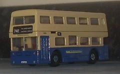 Fleetline 6610 NOC 610R (Bandsman1) Tags: bus model matchbox daimler fleetline westmidlandstravel diecast dms repaint code3 oogauge 176scale counbourne