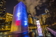 The Crown Fountain, Chicago (Deirdre Hayes) Tags: park chicago night surreal millenium explore