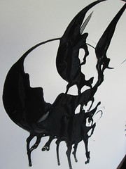 """They ride on a giant experiment/cricket who's also a critic, whose chirping (when translated) means """"There's no limit. Whether Nighters, which galaxy next should we visit?"""" (yet jeff) Tags: shadow blackandwhite abstract art illustration painting logo design paint ship ride graphic symbol bend circus name profile cartoon dream arc shapes surreal icon cricket mascot animation characters nightmare acrobats curve shape trademark creature silohouette giantcricket zfthrimej whethernightalliance whethernighters theyrideonagiantexperimentcricket"""