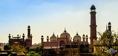 Badshahi Mosque Lahore (Ibrahim.Sayed) Tags: old city blue roof pakistan sky architecture lens photography nikon gate fort terrace top entrance mosque architectural dome punjab nikkor dslr fortress lahore winters masjid minarets badshahi 55200 d5100