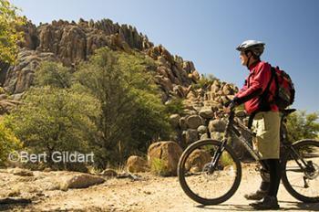 Rich Carpentier cycling Peavine Trail