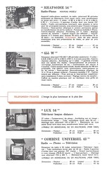 TELEFUNKEN Radio, Phono, Televiseur Dealer Brochure (France 1953)_014 (MarkAmsterdam) Tags: old classic sign metal museum radio vintage advertising design early tv portable colorful fifties tsf mark ad tube battery engineering pickup retro advertisement collection plastic equipment tape electronics era handheld sheet booklet collectible portfolio recorder eames electrical atomic brochure console folder forties fernseher sixties transistor phono phonograph dealer cartridge carradio fashioned transistorradio tuberadio pocketradio 50s 60s musiktruhe tableradio magnetophon plaskon 40s kitchenradio meijster markmeijster markamsterdam coatradio tovertoom