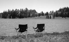 Ringside Seats: White Mountains, Sitgreaves - Apache National Forest, AZ [Lou Feltz] (deserttoad) Tags: road arizona sky mountain lake tree fall nature shadows scenic aspen