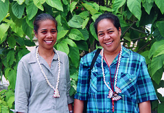 Tuvalu's first female doctors. Tuvalu 2008. Photo: AusAID