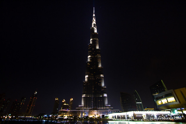Burj Khalifa In The Night, Dubai