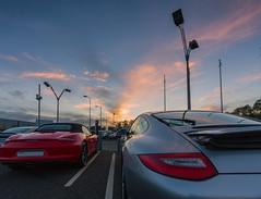 Sunset Porsches (bassvolumetreble) Tags: light sunset clouds 911 belfast porsche boxster 1022mm cloudscape carrera canon550d