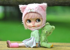 The Pink Kitty & The Green Bear..