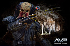 ScarPredator04 (shemanthkumar) Tags: hot scale monster studio toys scary nikon action alien tunnel indoor figure sword cave 16 blade dagger predator scar avp ferocious kumar hemanth d3100