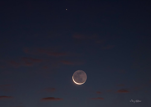 Morning Moon Rise As Saturn Looks On