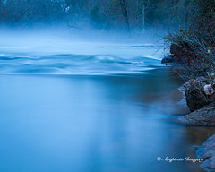 Smooth or Not (augphoto) Tags: blue mist water river us unitedstates smooth scenic southcarolina honeapath augphotoimagery