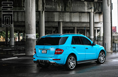 Exclusive Motoring Mercedes ML63 AMG (Exclusive Motoring) Tags: photography mercedes florida miami teal wrap exotic neice worldwide raymond custom luxury exclusive matte amg motoring ml63