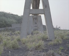abandoned coal mine (Egg Cheung) Tags: bridge abandoned 120 film grass japan mine pillar medium 6x7 coal urbex haikyo  fujicolorpro400h ikeshima fujifilmgf670professional wwwfacebookcomurbanfragment