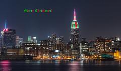Merry Christmas! (mailhog00) Tags: christmas nyc skyline empirestatebuilding merrychristmas