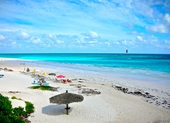 Stunning Scene At Harbour Island, Eleuthera, Bahamas - IMRAN -- 3000+ Views! (ImranAnwar) Tags: ocean travel blue vacation sky beach nature water clouds outdoors landscapes nikon marine peaceful tranquility caribbean bahamas imran s6 imrananwar