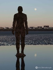 Another Place0079 (chris fearnehough) Tags: sunset liverpool sunrise crosby antonygormley anthonygormley anotherplace gormleystatues ironmanstatues