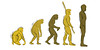 Evolution Hand-Draw (AnnikaogSiw) Tags: people abstract men history feet illustration monkey stand phone arms legs time drawing walk grow silhouettes darwin evolution growth ape tall reverse ancestors success solution android forward mankind monky spear evolve hunch hunched