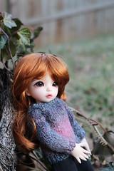 Pensive (AluminumDryad) Tags: ginger sweater knitting doll bjd resin fairyland ante balljointeddoll tinybjd littlefee