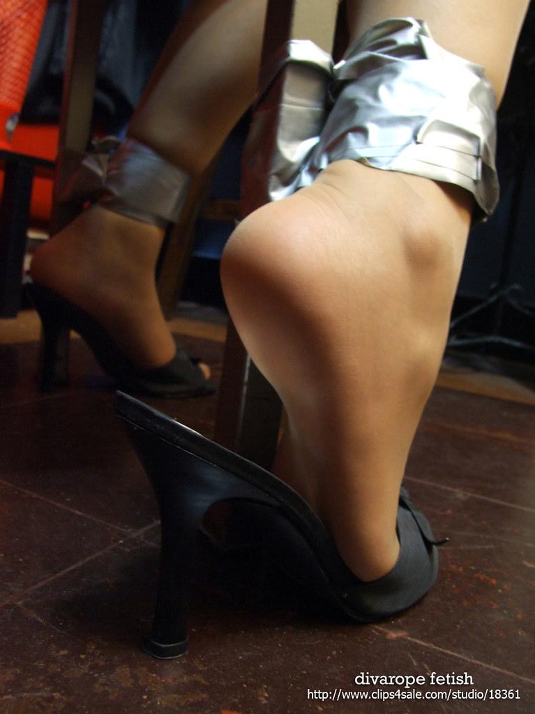 Girl feet bondage struggle and ebony 2