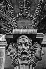 Werburgh Street Church 27 (Dave Road Records) Tags: ireland blackandwhite dublin monochrome churches woodcarvings davekennedy irishchurch religiouscarvings churchcarvings dublinchurch werburghstreet