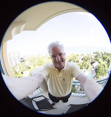 Fishy Fisheye Selfie (Bill in DC) Tags: florida miami fl ritzcarlton keybiscayne 2014 eos5d3