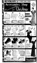 newberrys dept store ad 1933 albany ny no pearl st  1930s (albany group archive) Tags: newberrys dept store ad 1933 albany ny no pearl st 1930s downtown shopping oldalbany history