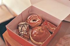 From the bakery (Anna-Mari Vuorela) Tags: vacation film cake sweet box cream delicious greece bakery 200 donut pastry vista agfa rhodes nikonfm2 frosting