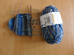 Mini socks - Progress shot (Miss Litchi) Tags: knitting unraveling ravellenic2014