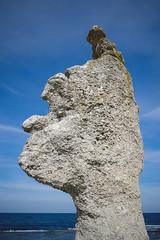 Face like a Rock (Linus Wrn) Tags: leica sea lake nature rock island rocks sweden balticsea baltic fr rockformations rauk rockformation leicadlux5