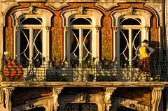 'High Street Fashion' (Canadapt) Tags: street door sunset mannequin portugal window architecture balcony railing aveiro canadapt