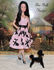 Out for a Walk with Snowprincess Barbie Doll and Blackie the Poodle. (The doll keeper) Tags: pink black doll dress barbie poodle snowprincess