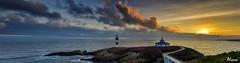 Panormica de un amanecer (Clamiubolchevique) Tags: galicia lugo ribadeo islapancha flickrdiamond