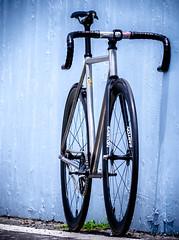 Bob's custom Titanium Track / Taipei (father TU) Tags: bike porn thomson fixie fixedgear titanium easton trackbike sugino75 aarn ec90 fathertu