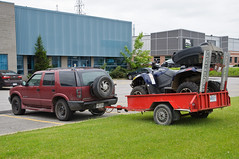 Yup, this'll work (caribb) Tags: city urban canada grass truck parkinglot quebec parking pickup business qubec atv trailer mower industrialpark suv laval 2014 lawncare allterrainvehicle grasscutting
